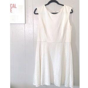 White Die-cut Cocktail Dress